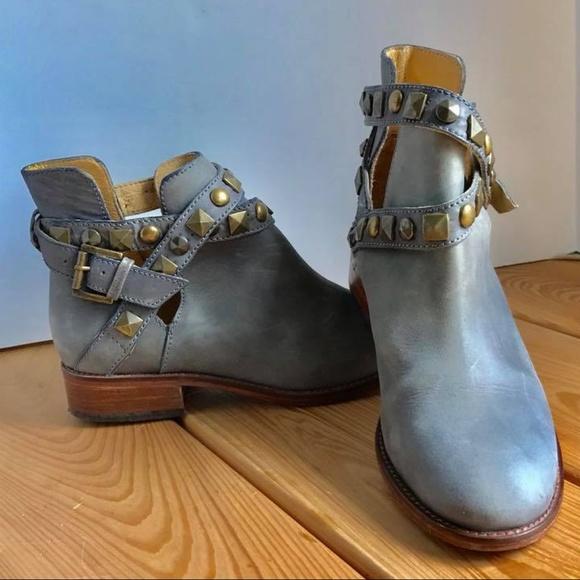 Patron by Perugia Schuhes   Leder Gray Leder  Upper Studded Ankle   Poshmark 40ce37